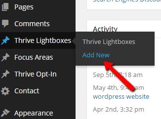 Step 1: Create a Thrive Lightbox