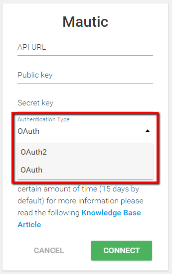 How to Correctly Use the OAuth2 Authentication Type in our