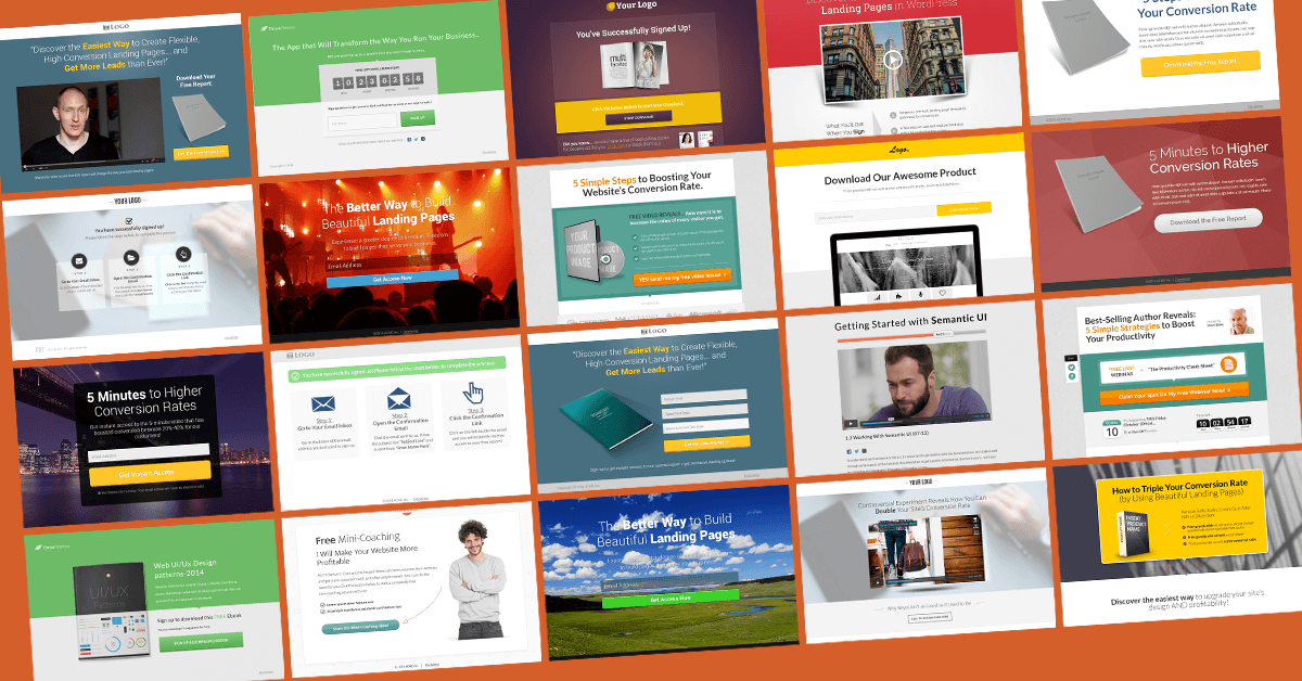 Landing page templates for WordPress