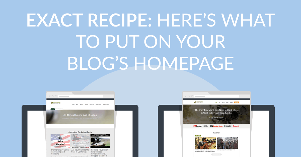 Heres What To Put On Your Blogs Homepage Besides Well