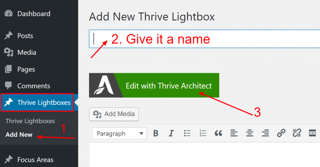 When your lightbox is ready, go back to the page or post you want to add the 2-step lightbox to.