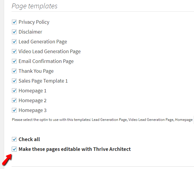Generate Thrive Themes Page Templates - Privacy page template