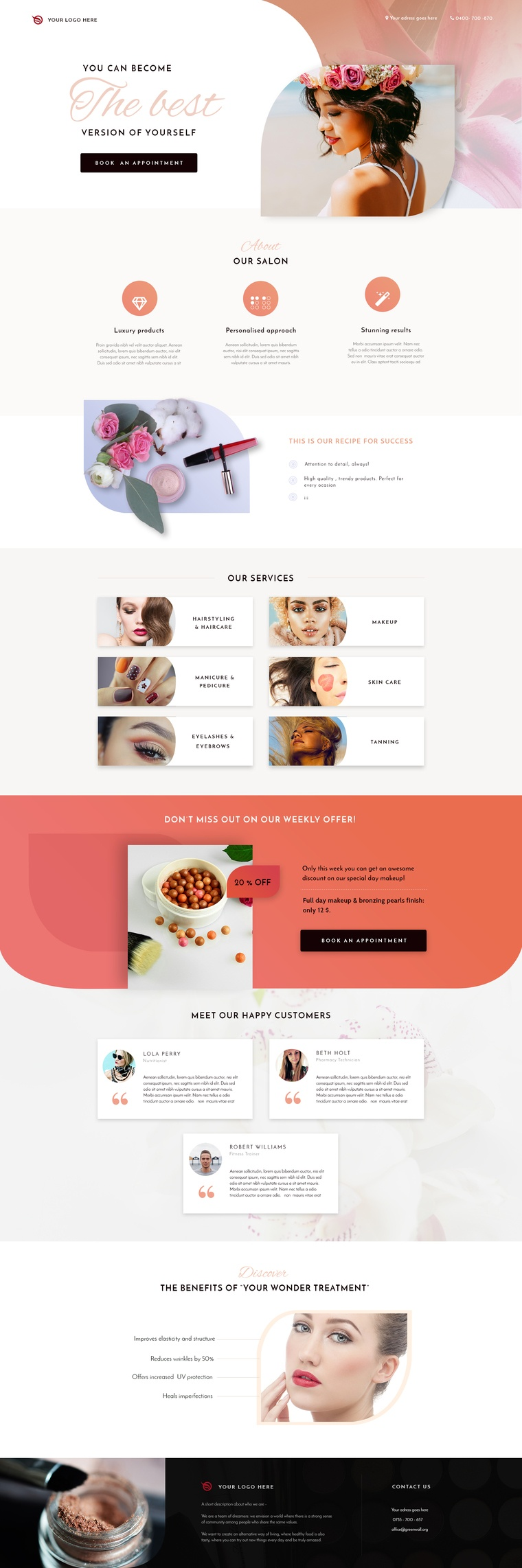 3 new local business landing page templates variation 3 the jewelry shop landing page flashek Image collections