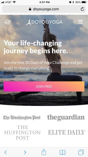 Yoga-mobile-homepage-good-touch-friendly-example