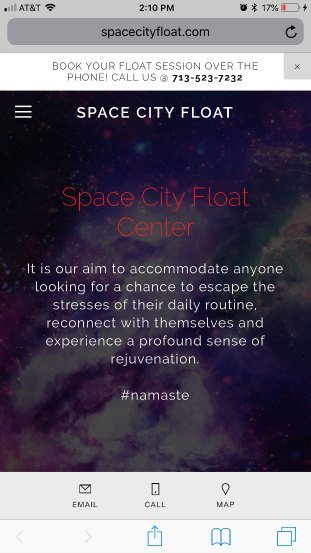 SpaceCityFloat homepage bad example