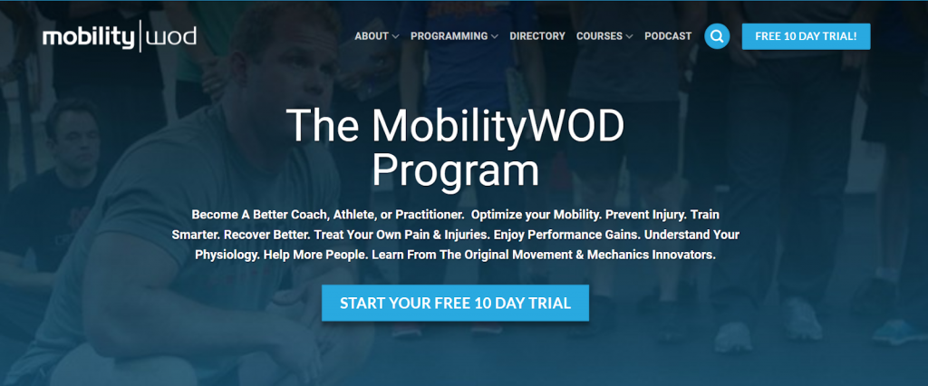 Button on the MobilityWOD Program: Start your free 10-day trial