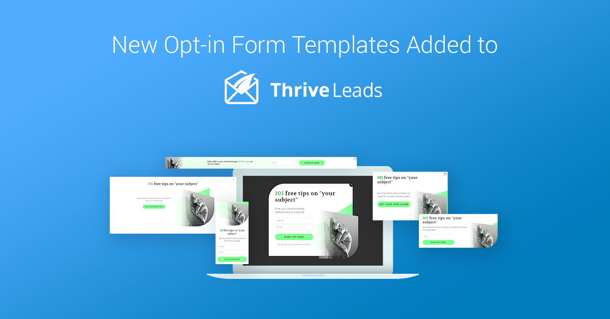 Free Opt In Form Templates   New Opt In Form Templates In Thrive Leads Fading Images