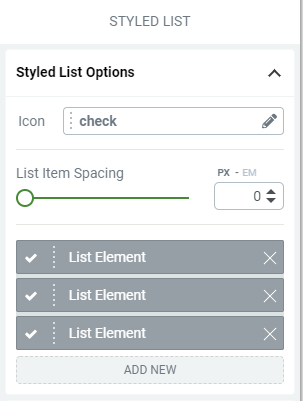 How to Use the Styled List and Toggle Elements