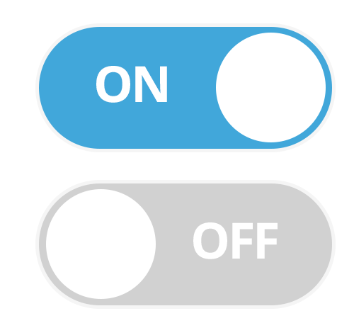 Switch UI element in the flat design style