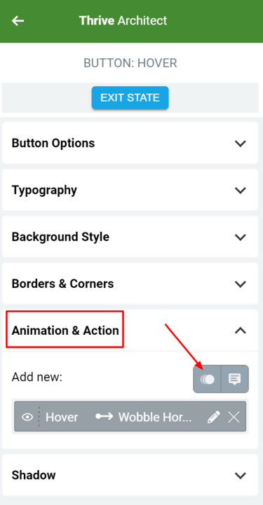 New Hover Animations Thrive Architect