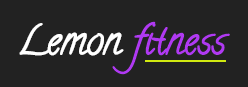 Lemon Fitness simple text logo example