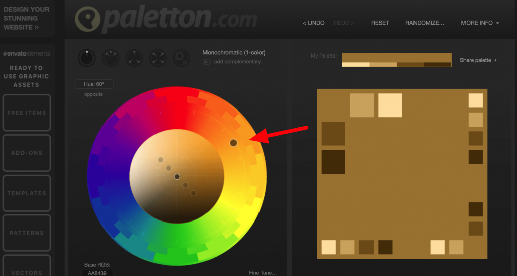 Paletton - select your website color palette