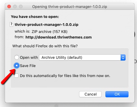 What Should Firefox Do With This File