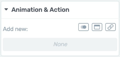 Animation & Action Tab