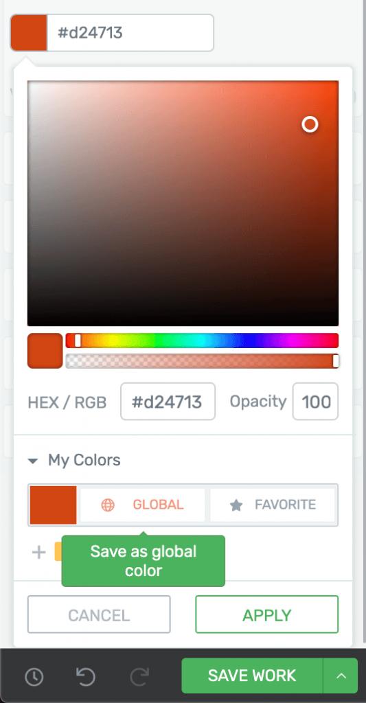 глобальные цвета