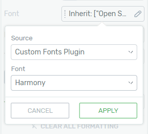 Custom fonts in Thrive Architect