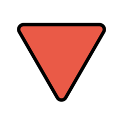 triangle pointing down